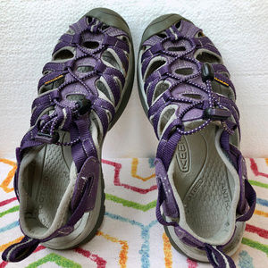 Keen Shoes - Keen Whisper Purple Waterproof Sport Sandal Vegan